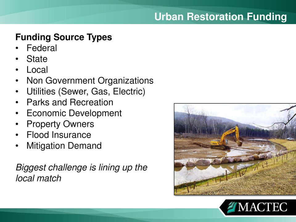 Recreation Economic Development Property Owners Flood Insurance