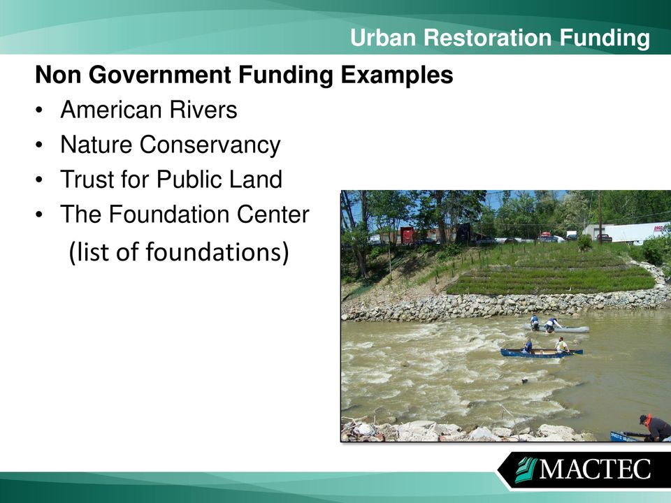 Trust for Public Land The Foundation