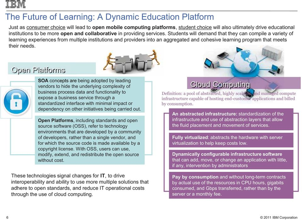 Students will demand that they can compile a variety of learning experiences from multiple institutions and providers into an aggregated and cohesive learning program that meets their needs.