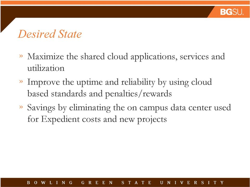 cloud based standards and penalties/rewards Savings by