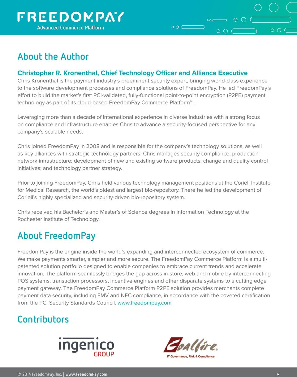 processes and compliance solutions of FreedomPay.