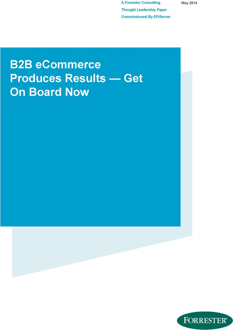 EPiServer May 2014 B2B ecommerce