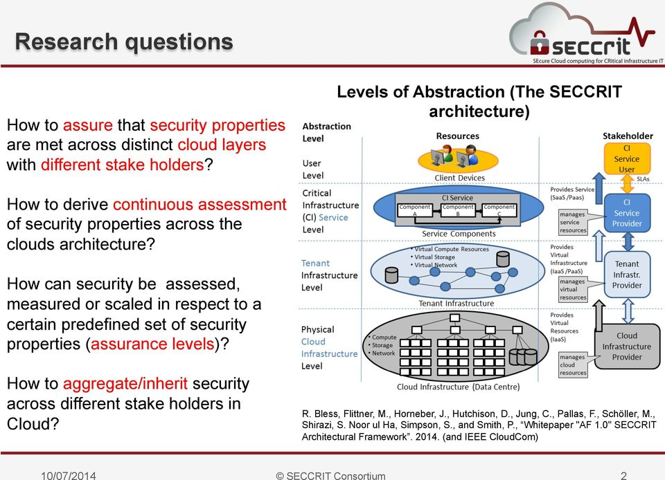 How can security be assessed, measured or scaled in respect to a certain predefined set of security properties (assurance levels)?