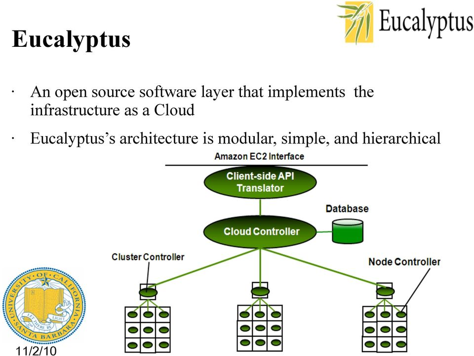 infrastructure as a Cloud Eucalyptus