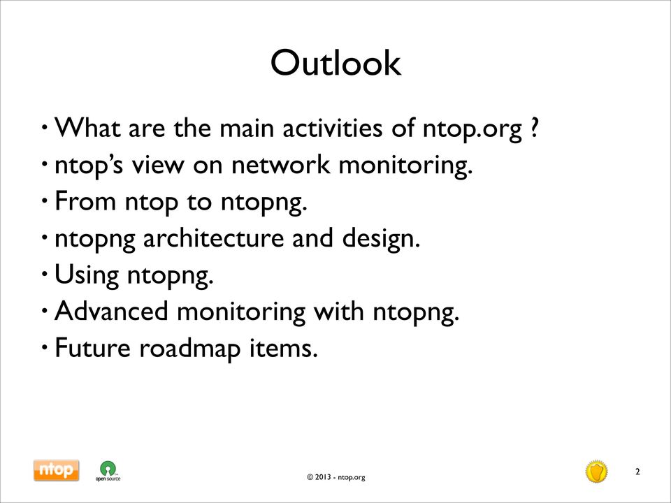 From ntop to ntopng. ntopng architecture and design.