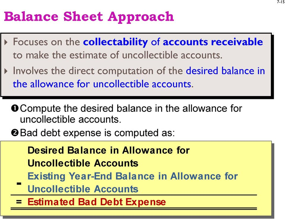 Compute the desired balance in the allowance for uncollectible accounts.