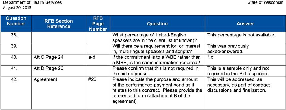 Agreement #28 Please indicate the purpose and amount of the performance-payment bond as it relates to this contract.