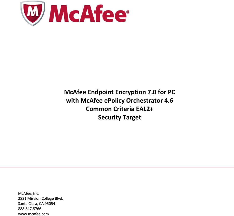 com McAfee Endpoint Encryption 7.