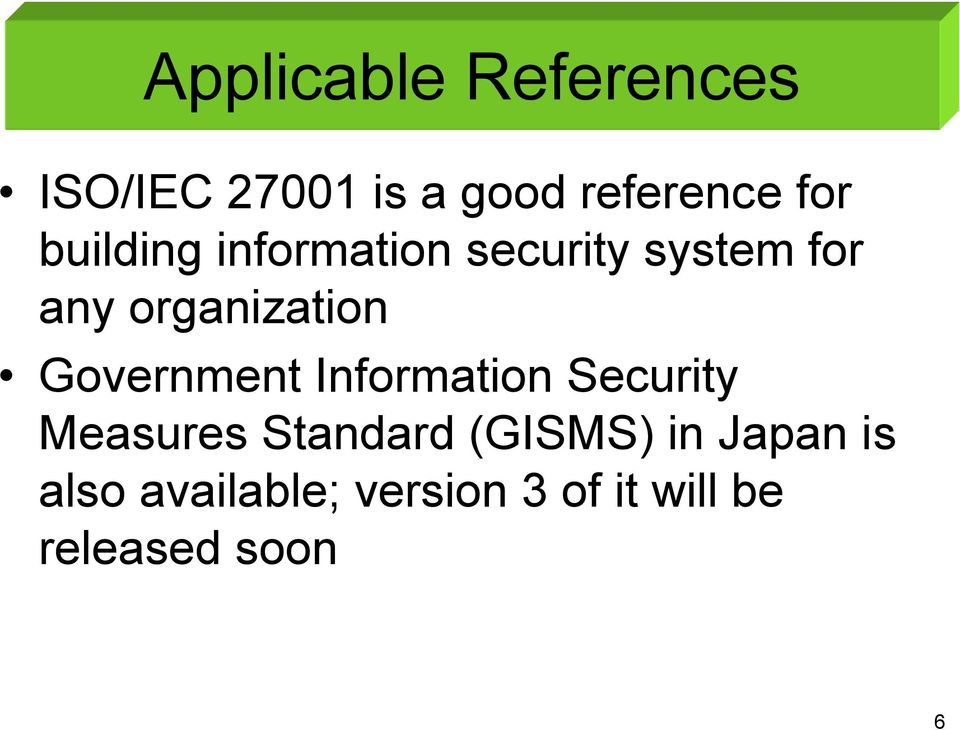 Government Information Security Measures Standard (GISMS) in