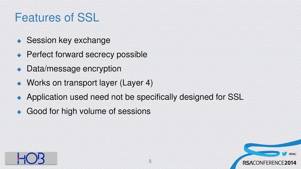 transport layer (Layer 4) Application used need not be