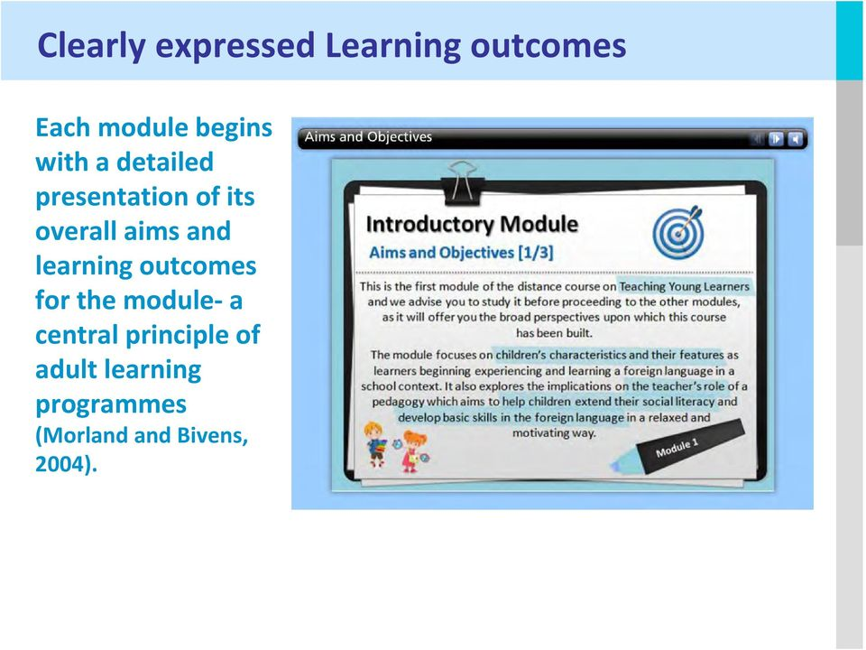 learning outcomes for the module a central principle