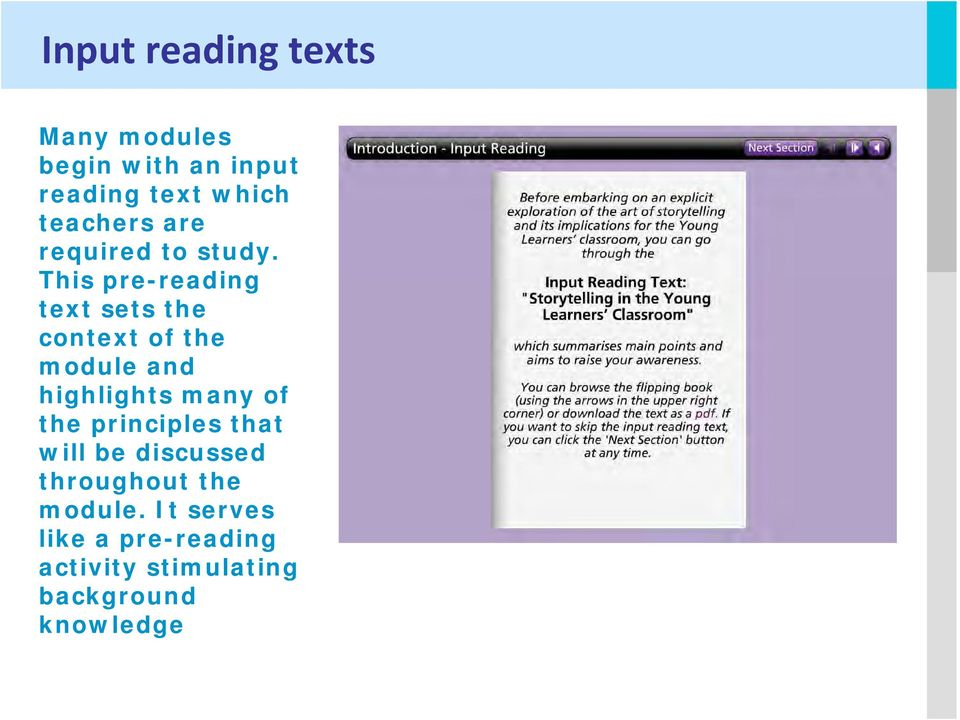 This pre-reading text sets the context of the module and highlights many of