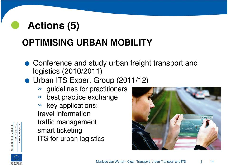 management smart ticketing ITS for urban logistics Conference and study