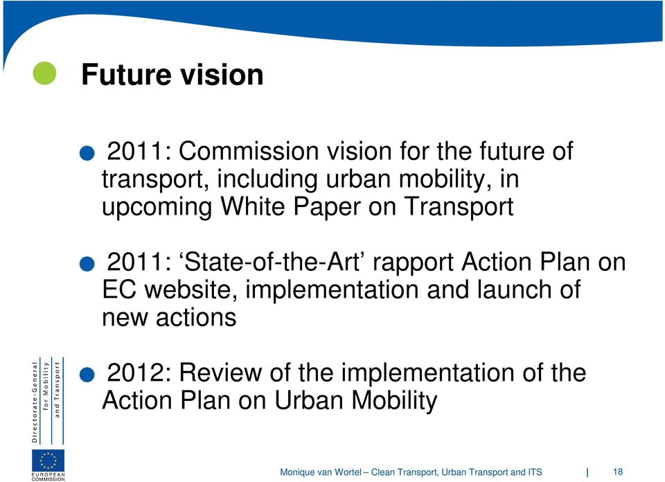 State-of-the-Art rapport Action Plan on EC website, implementation and