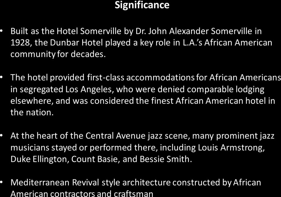 finest African American hotel in the nation.