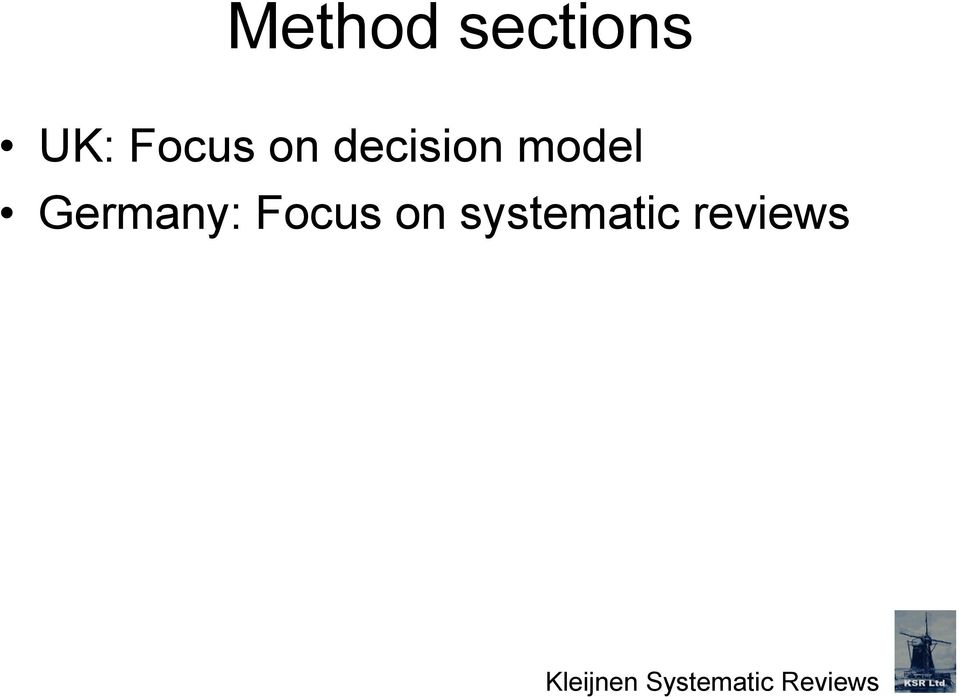 Focus on systematic