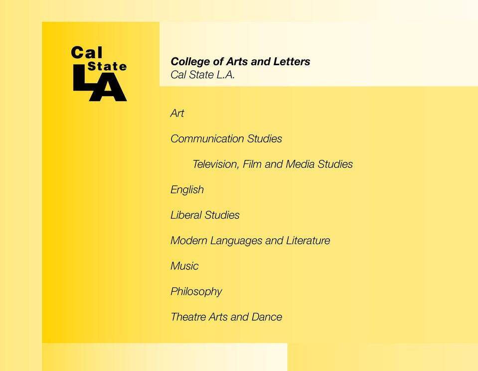 Art Communication Studies Television, Film and