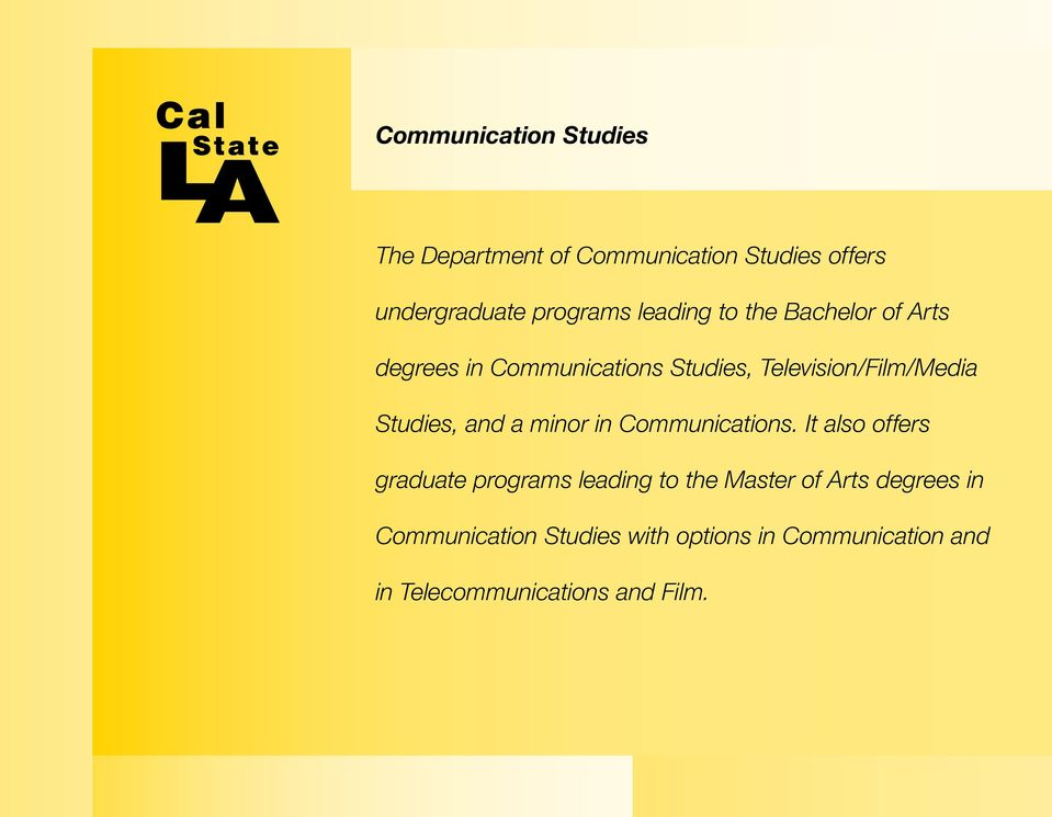 Studies, and a minor in Communications.