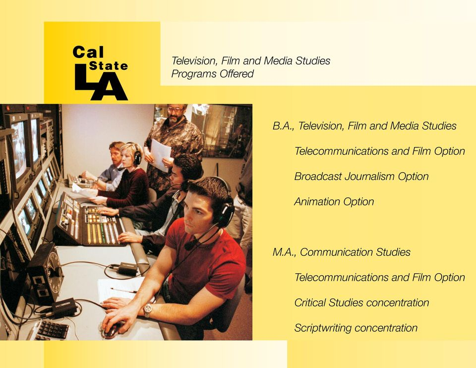 Broadcast Journalism Option An