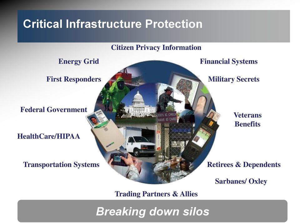 Government HealthCare/HIPAA Veterans Benefits Transportation Systems