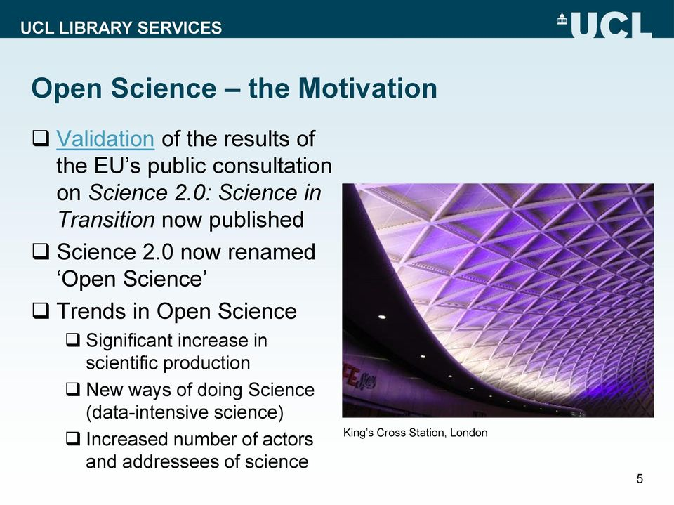 0 now renamed Open Science Trends in Open Science Significant increase in scientific