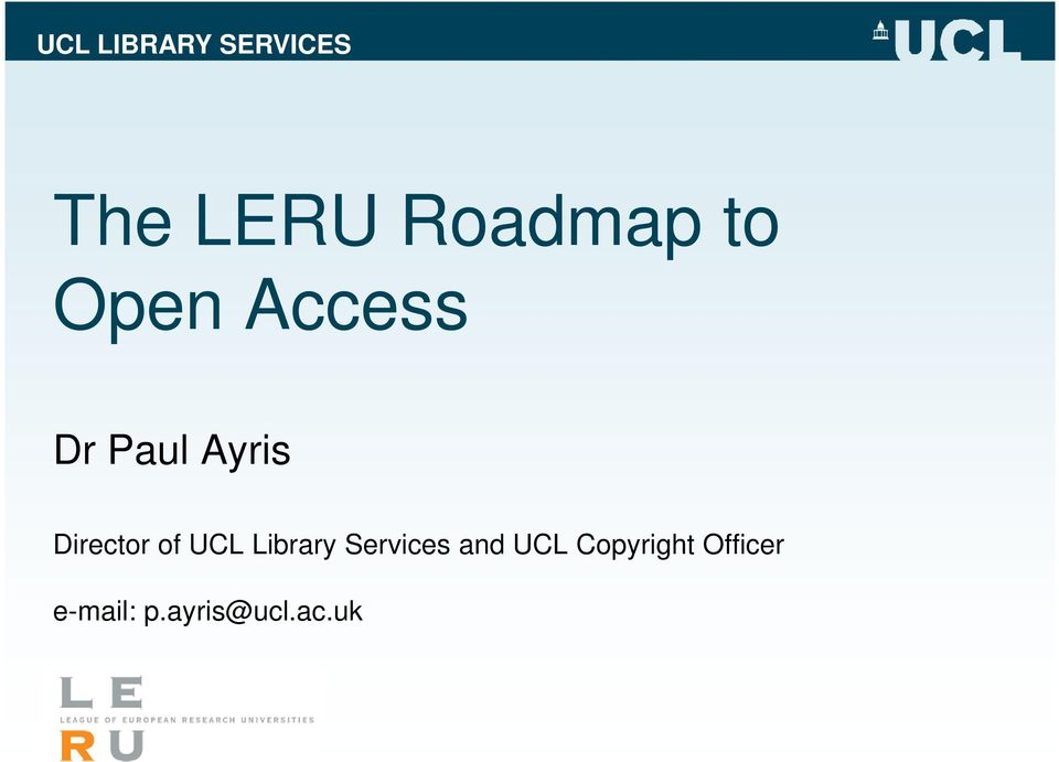 Library Services and UCL