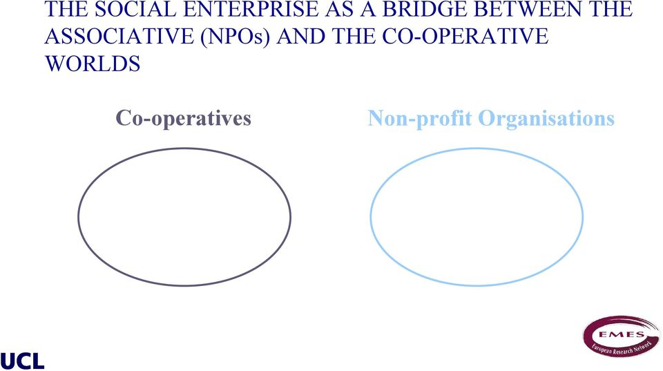(NPOs) AND THE CO-OPERATIVE