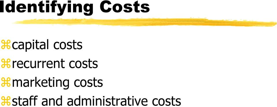 costs marketing costs