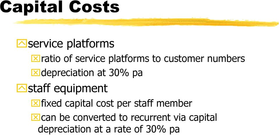 staff equipment fixed capital cost per staff member can