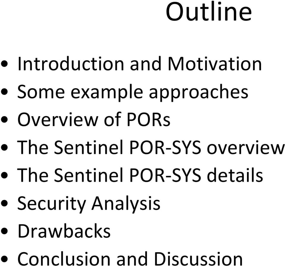 Sentinel POR SYS overview The Sentinel POR SYS