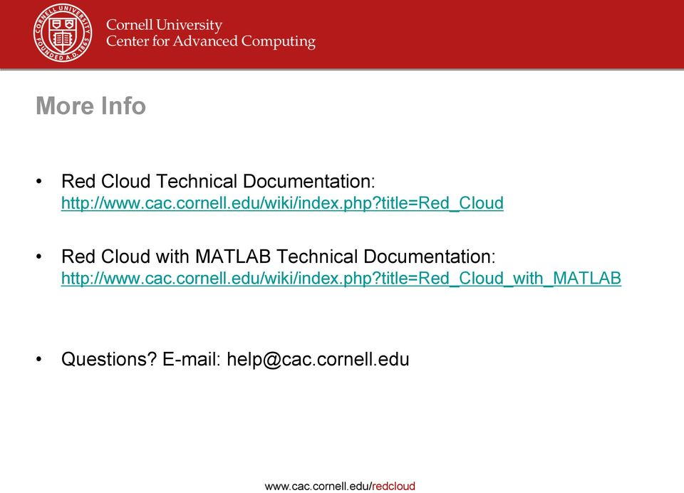 title=red_cloud Red Cloud with MATLAB Technical Documentation: