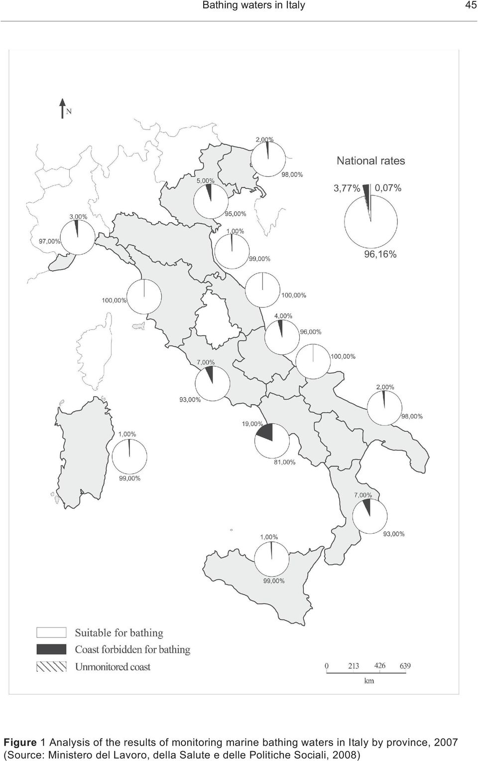 in Italy by province, 2007 (Source: Ministero del