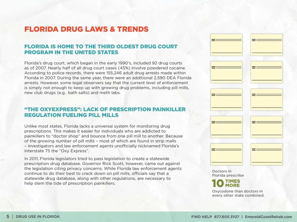 During the same year, there were an additional 2,590 DEA Florida arrests.