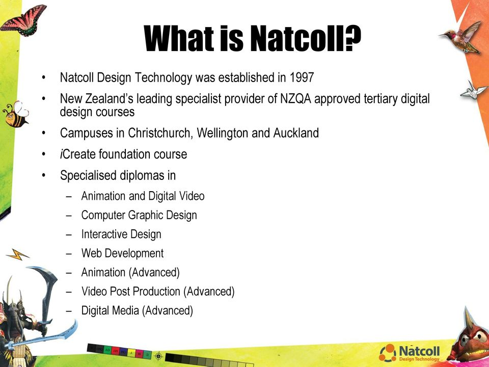 approved tertiary digital design courses Campuses in Christchurch, Wellington and Auckland icreate
