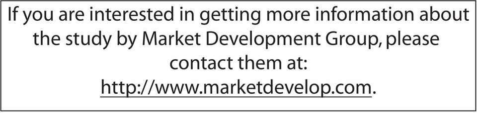 Market Development Group, please