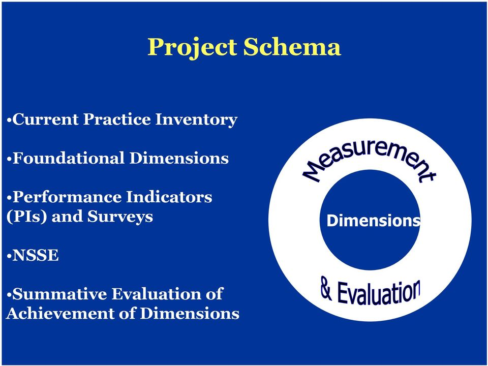 Indicators (PIs) and Surveys Dimensions