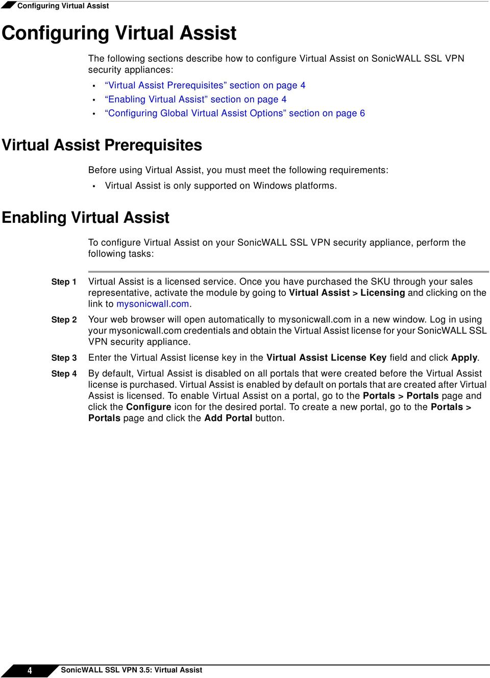 requirements: Virtual Assist is only supported on Windows platforms.