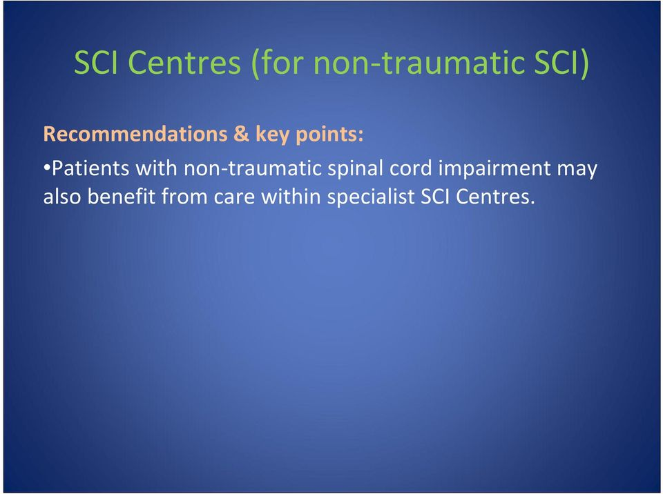 non traumatic spinal cord impairment may