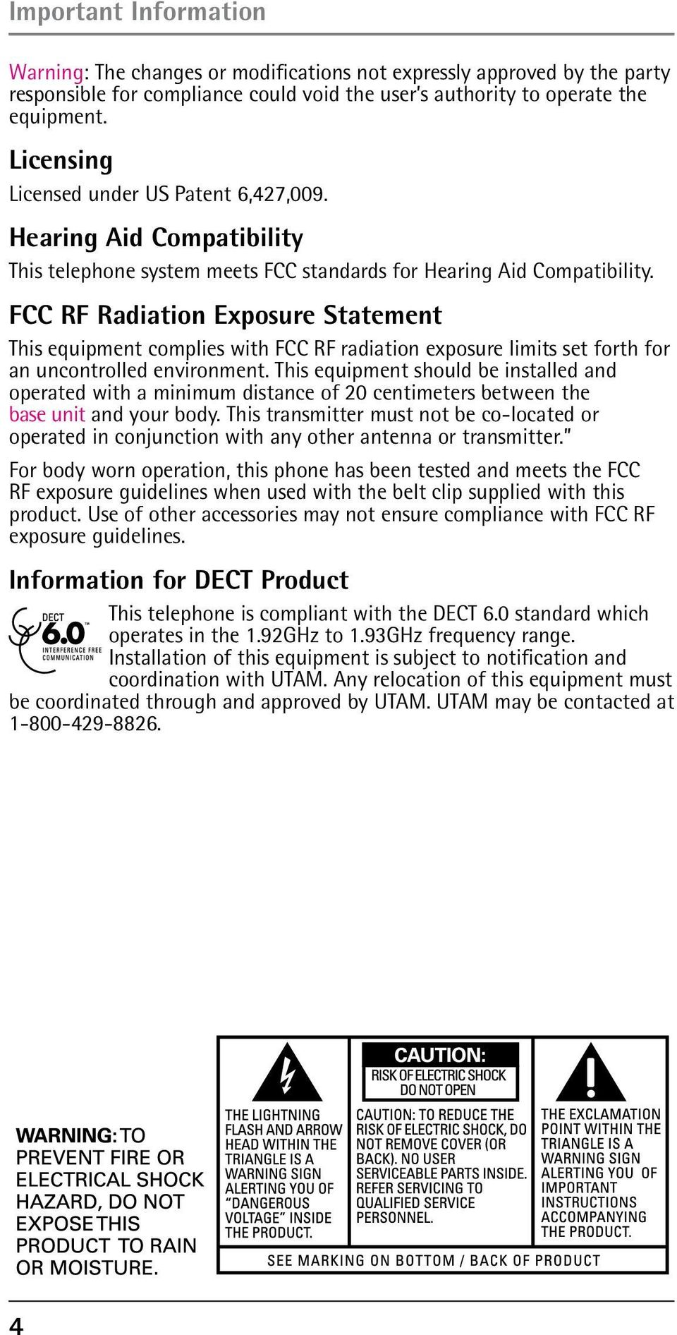 FCC RF Radiation Exposure Statement This equipment complies with FCC RF radiation exposure limits set forth for an uncontrolled environment.