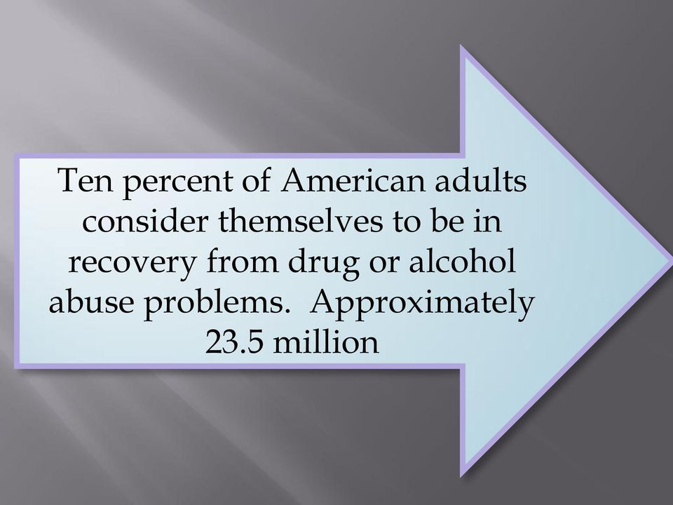 recovery from drug or alcohol