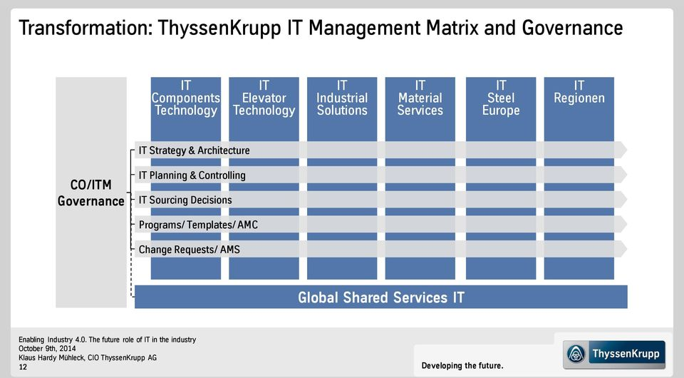 IT Strategy & Architecture CO/ITM Governance IT Planning & Controlling IT Sourcing Decisions