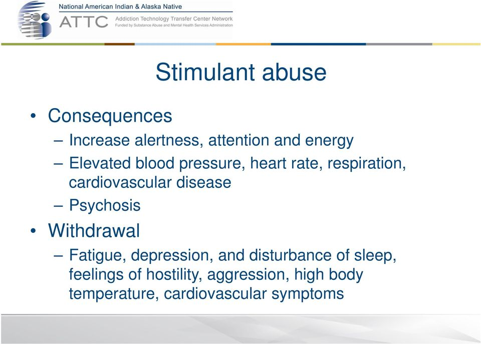 Psychosis Withdrawal Fatigue, depression, and disturbance of sleep,