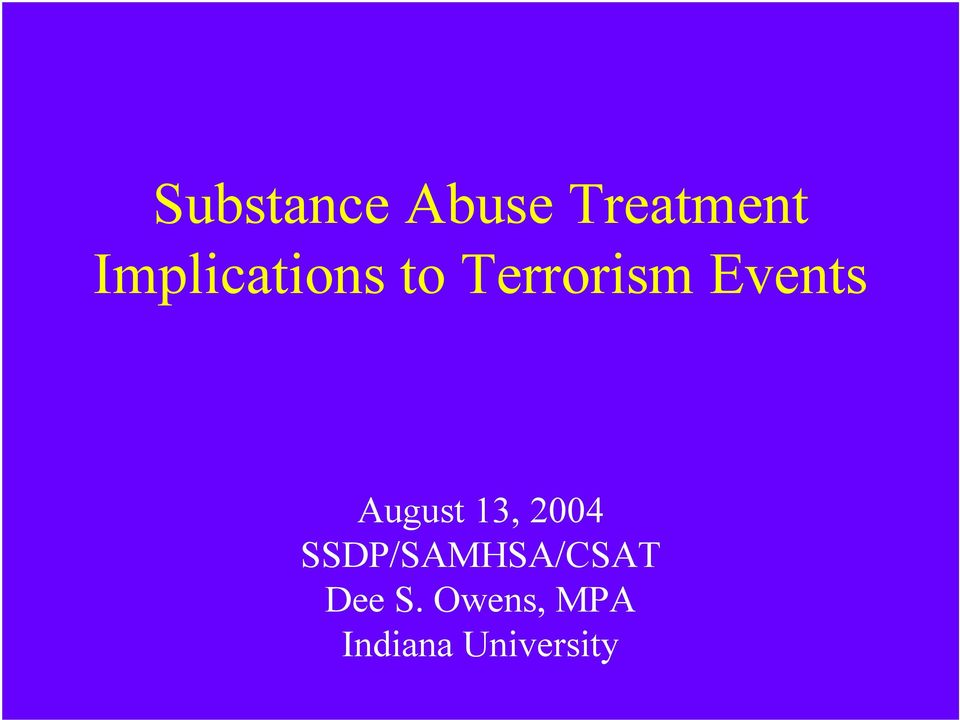 Events August 13, 2004
