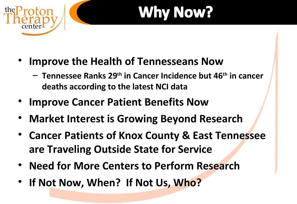 Interest is Growing Beyond Research Cancer Patients of Knox County & East Tennessee are