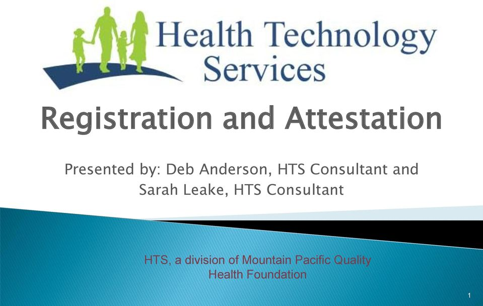 Sarah Leake, HTS Consultant HTS, a