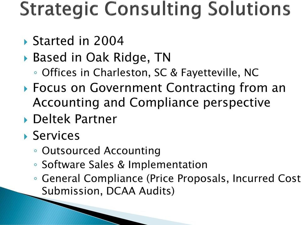 Compliance perspective Deltek Partner Services Outsourced Accounting Software