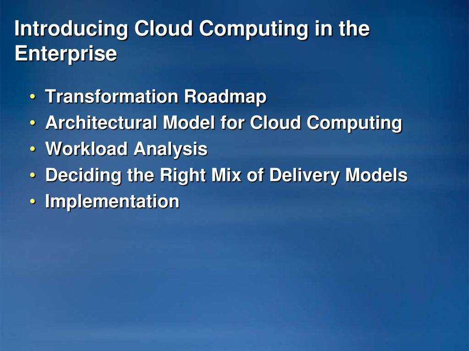 for Cloud Computing Workload Analysis