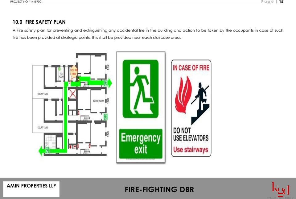extinguishing any accidental fire in the building and action to be