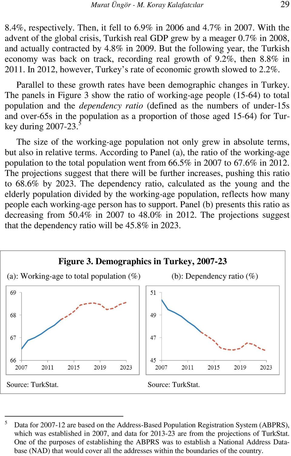 In 2012, however, Turkey s rate of economic growth slowed to 2.2%. Parallel to these growth rates have been demographic changes in Turkey.