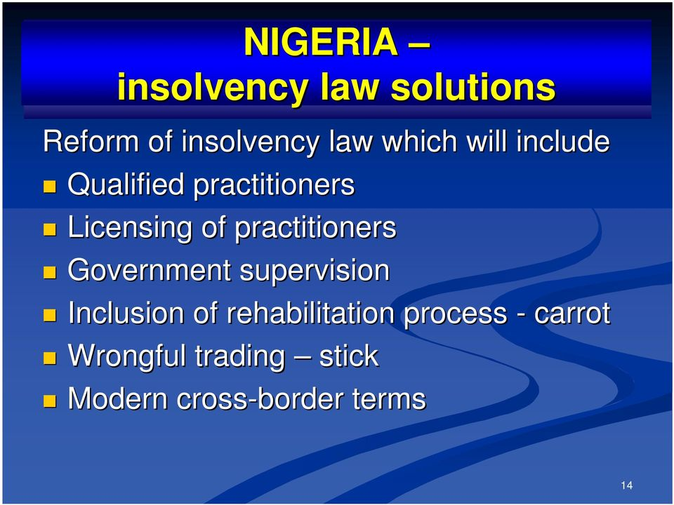practitioners Government supervision Inclusion of
